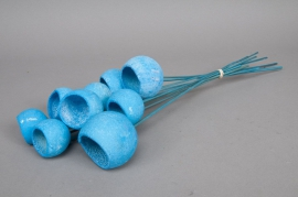 u091ab Paquet de 10 bell Cup séché bleu H46cm