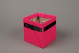 A183QX Paquet de 10 cache-pots carton fuchsia H12cm