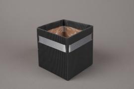 A182QX Paquet de 10 cache-pots carton gris H12cm
