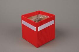 A184QX Paquet de 10 cache-pots carton rouge H12cm