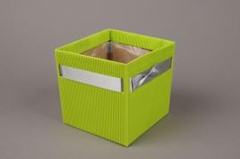A199QX Paquet de 10 cache-pots carton vert H12cm