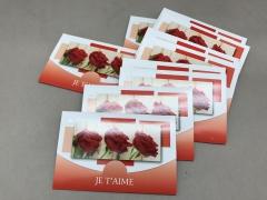 A748MQ Paquet de 10 cartes Je t'aime