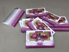 A526MQ Paquet de 10 cartes Nos pensées vous accompagnent