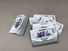 A753MQ Paquet de 10 cartes Sincères condoléances
