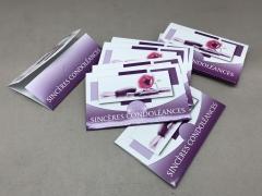 A744MQ Paquet de 10 cartes Sincères condoléances