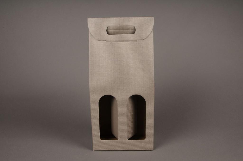 Paquet de 10 coffrets carton gris 18 x 9cm H38cm