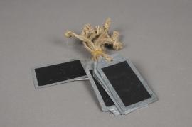 A054U7 Paquet de 10 étiquettes en zinc 8cm x 5cm