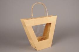 A408MO Pack of 10 natural kraft bags H25cm