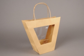 A408MO Paquet de 10 sacs en kraft naturel H25cm