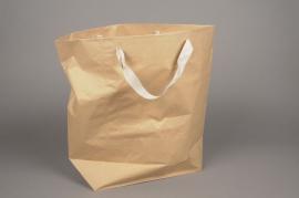 A372IX Paquet de 10 sacs en kraft naturel L45cm H39cm