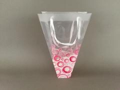 MU34MO Paquet de 10 sacs plastique muguet rose 24x7cm