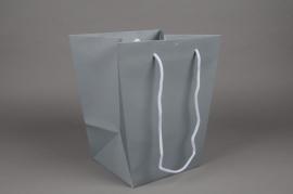 A014IX Paquet de 10 sacs trapèze gris 25x18cm H29cm