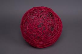 Paquet de 12 boules en osier rouge 5cm