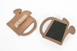 A005PA Paquet de 12 clips ardoises en forme d'arrosoir
