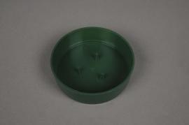 A047T7 Paquet de 12 coupes en plastique vertes D10cm H3cm