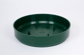 Bag of 12 green plastic bowls D20 H4cm