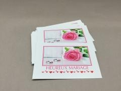 A173MQ Paquet de 15 cartes Heureux Mariage