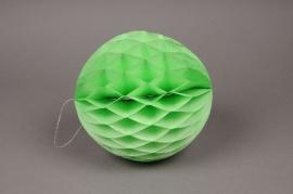 A831GM Paquet de 2 boules papier à suspendre vert D20cm