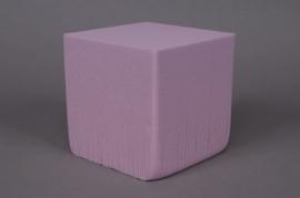 a301qv Paquet de 2 cubes en mousse florale mouillable violet 15x15cm H15cm