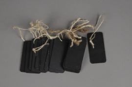 A061U7 Paquet de 20 étiquettes en bois 40X80mm