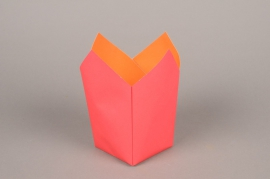 A248QX Paquet de 25 cache-pots en papier étanche rouge 8.5cm x 8.5cm H17cm