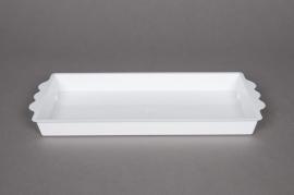 Pack of 25 rectangular bowls white 24,5x12,5cm