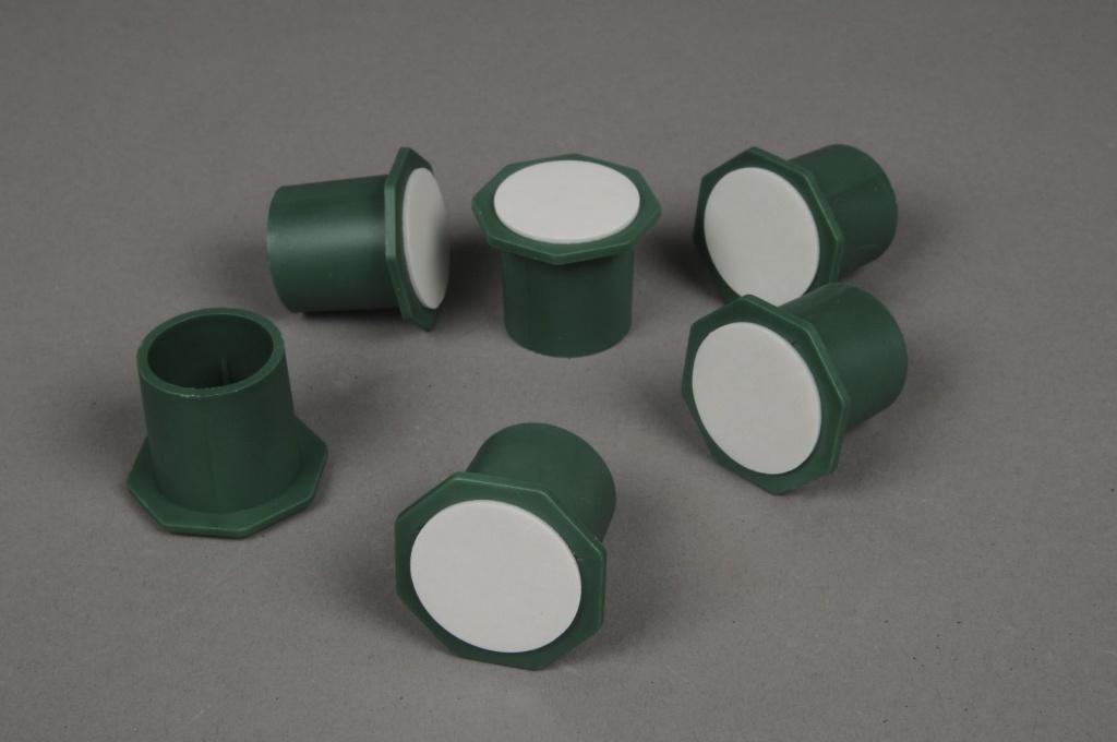 A019T7 Paquet de 25 supports plastique vert