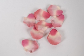 pt07ab Bag of 250 cyclamen pink artificial rose petals