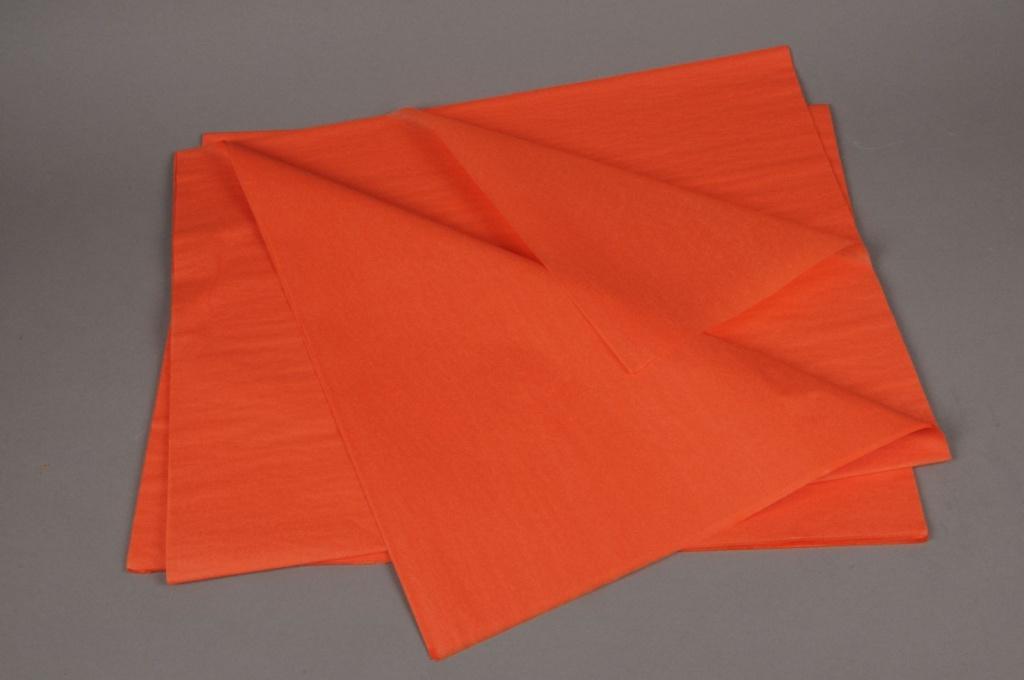 A139QX Paquet de 480 feuilles papier de soie orange 50x75cm