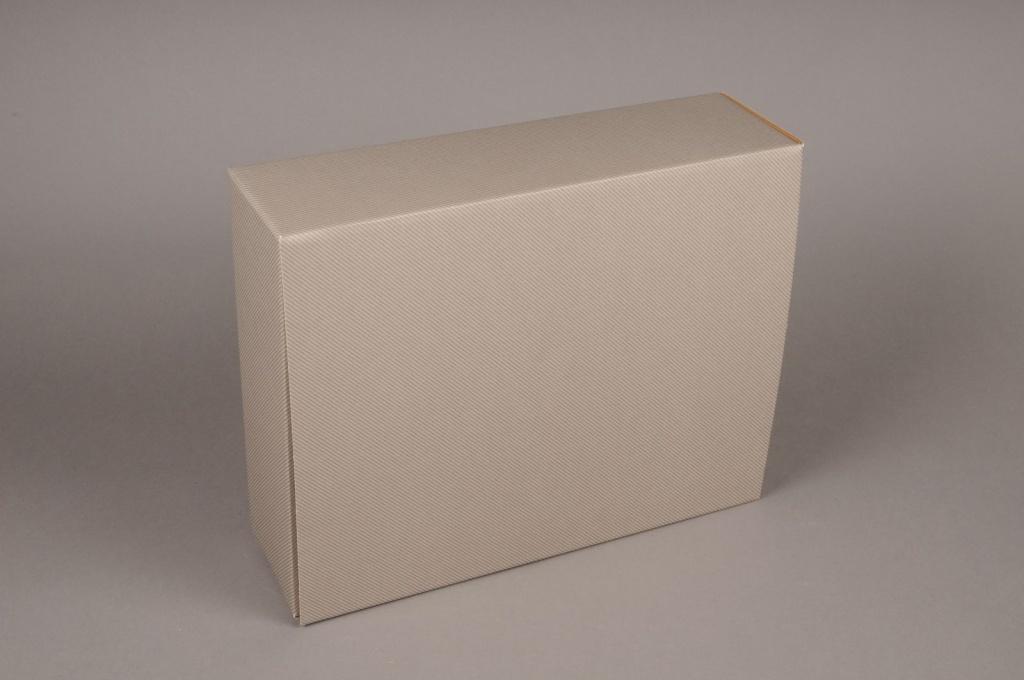 A007M4 Paquet de 5 coffrets carton gris 34x 18cm H10cm