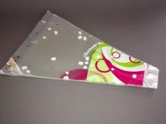 MU25MO Paquet de 50 housses à muguet vert rose 35x11cm H45cm