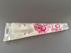 MU30MO Paquet de 50 housses à muguet rose 11x5cm H37cm
