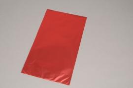 A163BD Paquet de 50 sachets papier métal rouge 20 x 35cm