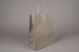 A018O6 Bag of 50 bags kraft grey 24x11cm H32cm
