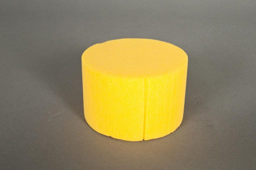 Paquet de 6 cylindres mousse jaune 8cm