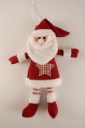 X007RX Cotton Santa Claus to hang H20cm