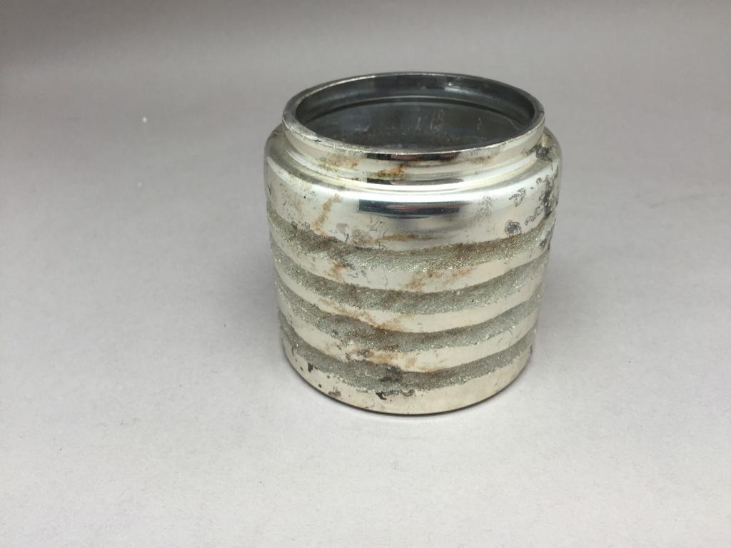 A009I5 Photophore en verre argent or D8.5cm H8cm