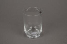 A580SH Photophore en verre D7cm H9cm