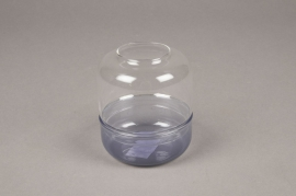 A036MA Glass light holder D8cm H9cm