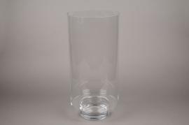 B395W3 Photophore en verre sur pied D25.5cm H56.5cm