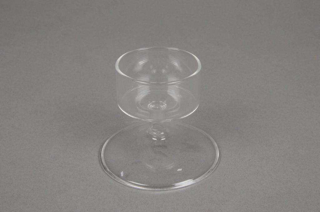 A006QJ Photophore sur pied en verre D7cm H6cm