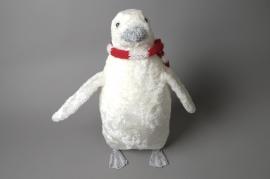 X008X3 Pingouin blanc à poser L22cm H32cm