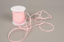 A528UN Pink leather ribbon 3mm x 45m