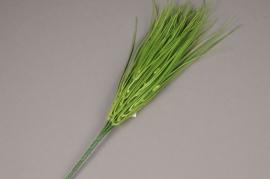 x007jp Piquet d'herbe artificielle verte H43cm