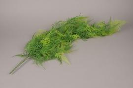 x076ee Piquet de fougère verte artificielle H80cm