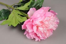 x473di Pivoine artificielle rose H76cm