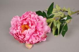 x270fp Pivoine artificielle rose H81cm