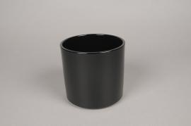A028DO Planter ceramic black D14cm H13cm