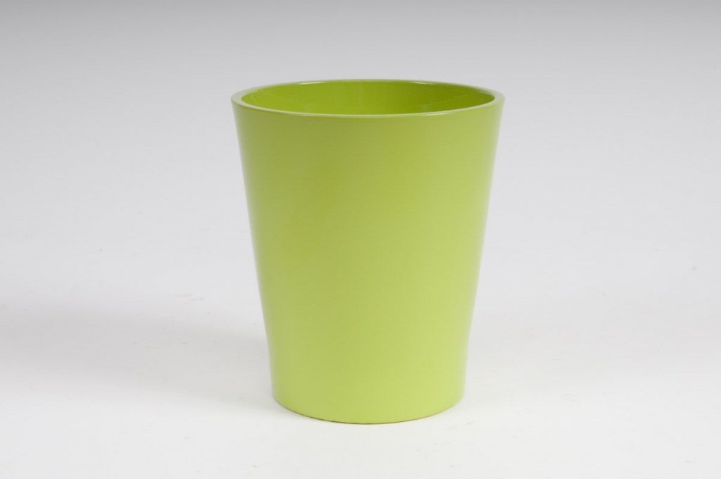 Planter ceramic Orchid green D14 H15cm
