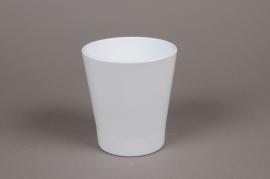 A032PP Cache-pot en céramique blanc D13cm H14cm